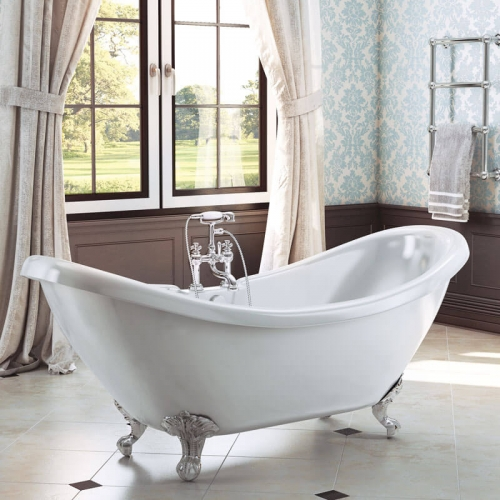 Synergy Marlow Traditional Double Ended Slipper Bath 1750 x 730 x 770mm