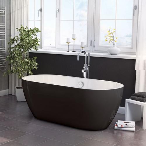 Synergy San Marlo Black Double Ended Bath 1655 x 750 x 580mm