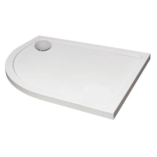 Hydro45 Offset Quadrant Left Hand Shower Tray White