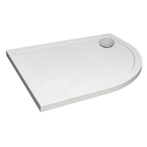 Hydro45 Offset Quadrant Right Hand Shower Tray White