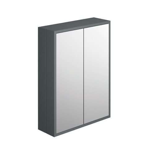 Synergy Henbury Grey 600mm Mirror Cabinet