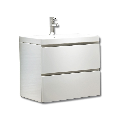 Synergy Linea White 600mm Wall Mounted Vanity Unit and Basin