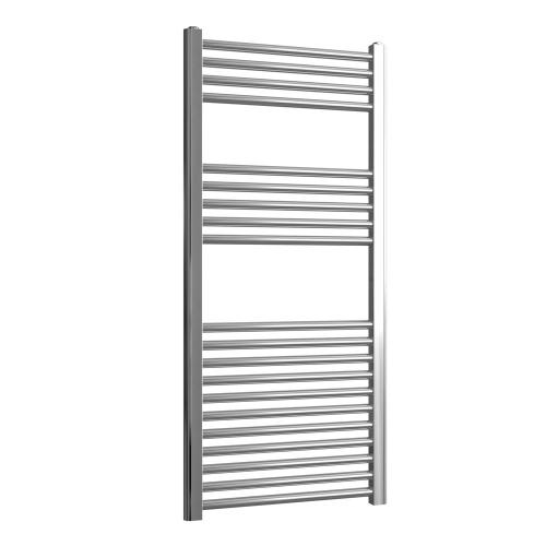 Loco Straight Ladder Rail Chrome 22mm - 500 x 1100mm