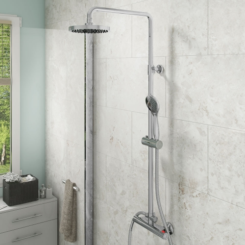 Arley Huron Thermostatic Bar Valve Complete With Shower Kit