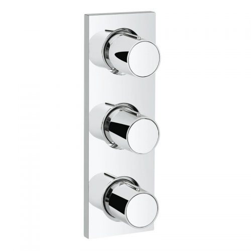 Grohtherm F Triple Shower Mixer Concealed - Easy Grip Control Trim