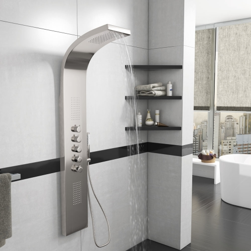 Synergy Stream Thermostatic Shower Tower With Waterfall