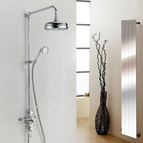 Synergy York Traditional Triple Exposed Shower With Rigid Riser And Handset