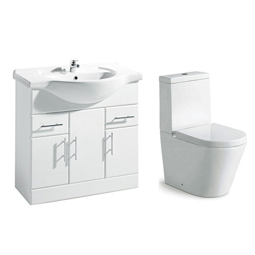 Navero 850mm Furniture & Toilet Bundle