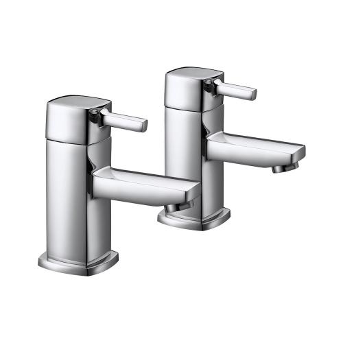 Arley Eazee Square Bath Pillar Taps