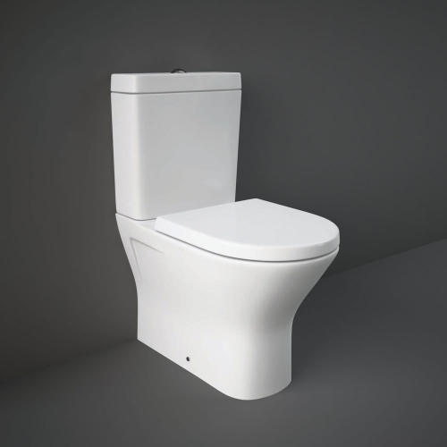 Rak Resort Mini Close Coupled Fully Back To Wall WC Toilet With Soft Close Seat