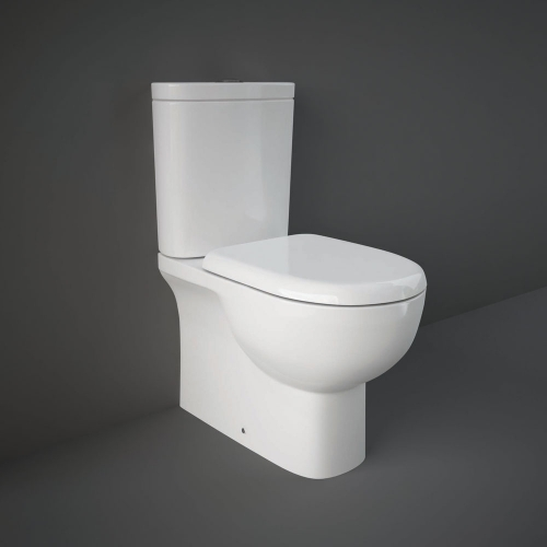 Rak Tonique Close Coupled Fully Back To Wall Toilet WC With Soft Close Seat