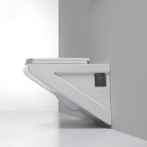 Synergy Geo 3 Wall Hung WC Pan With Soft Close Seat