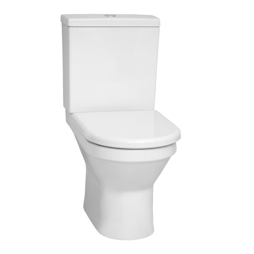 Vitra S50 Close Coupled Rimless Open Back WC Toilet