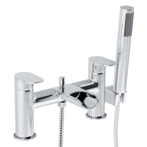 Lune Bath Shower Mixer with Shower Kit - By Voda Design