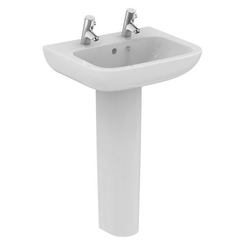 Armitage Shanks Portman 21 Washbasin 50cm 2 Taphole With Overflow With Full Pedestal