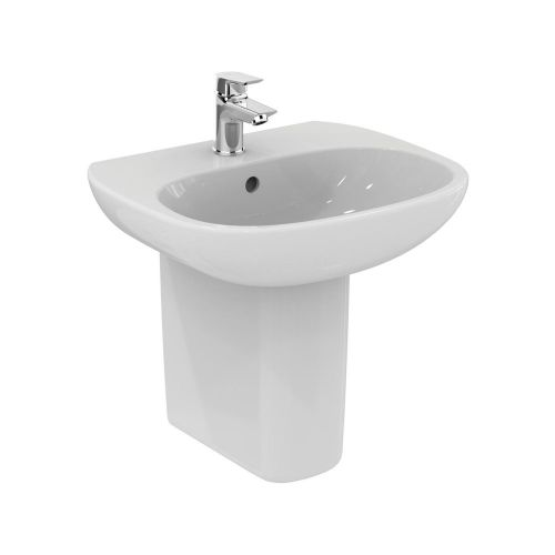 Ideal Standard Tesi Basin 50cm 1 Tap Hole With Half Pedestal