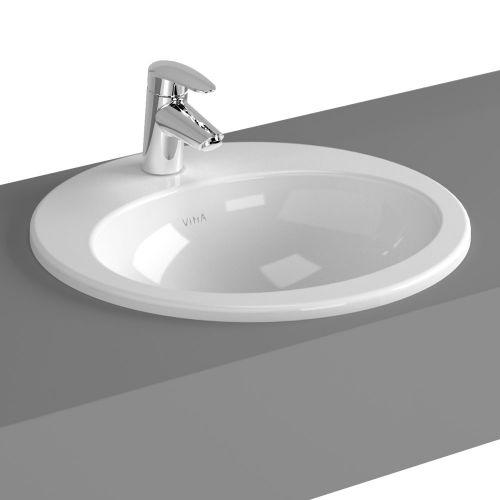 Vitra  S20 Countertop Washbasin Round 48cm 1 Tap Hole 5467B003-0001