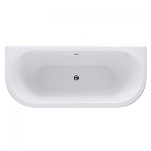Synergy Balta Modern Curved Back To Wall Bath 1800 x 840mm