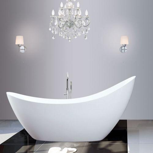 Synergy Modern White Thin Edged Slipper Bath 1750 x 750 x 870mm