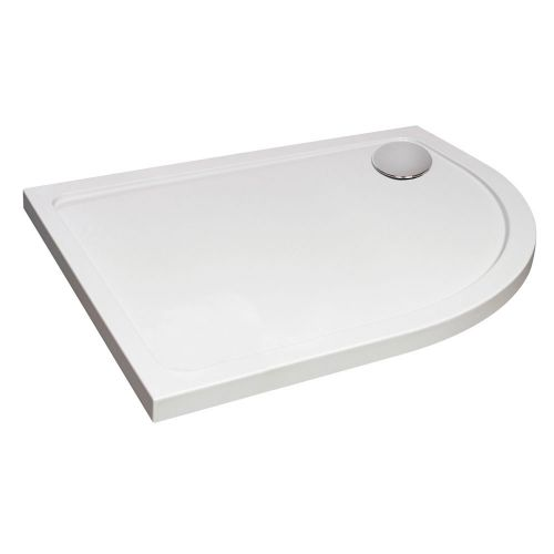 Hydro45 Offset Quadrant Right Hand Shower Tray White