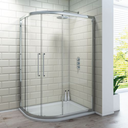 Offset Quadrant Shower Enclosure - 8mm Glass
