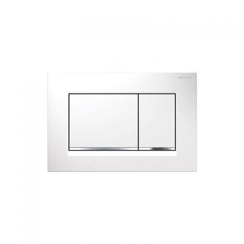 Geberit Sigma30 Dual Flush Plate White & Chrome - 115.893.KJ.1