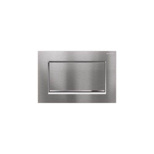 Geberit Sigma30 Flush Plate Brushed Chrome - 115.893.KX.1