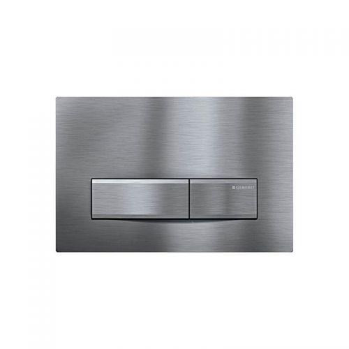 Geberit Sigma50 Dual Flush Plate Brushed Chrome - 115.788.GH.5