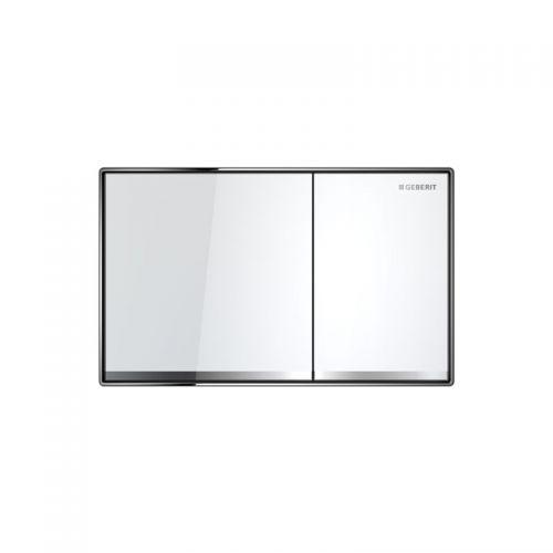 Geberit Sigma60 Dual Flush Plate White Glass - 115.640.SI.1