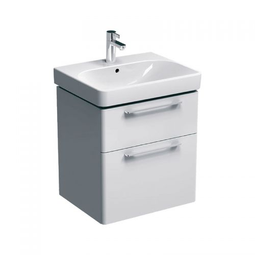 Geberit Smyle White 600mm Vanity Unit & 1 Taphole Basin