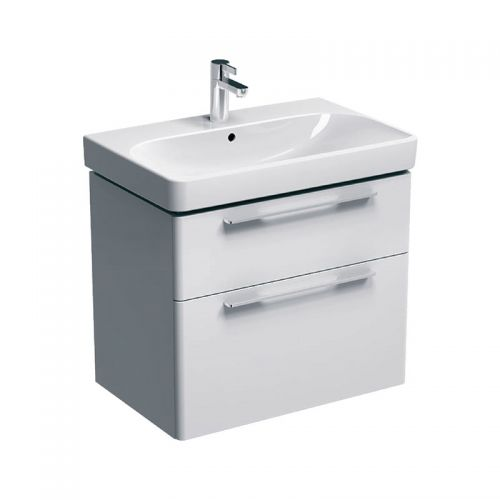 Geberit Smyle White 750mm Vanity Unit & 1 Taphole Basin
