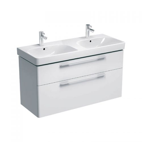 Geberit Smyle White 1200mm Vanity Unit & Double Basin