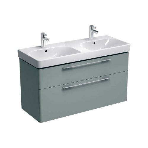 Geberit Smyle Grey 1200mm Vanity Unit & 1 Double Basin