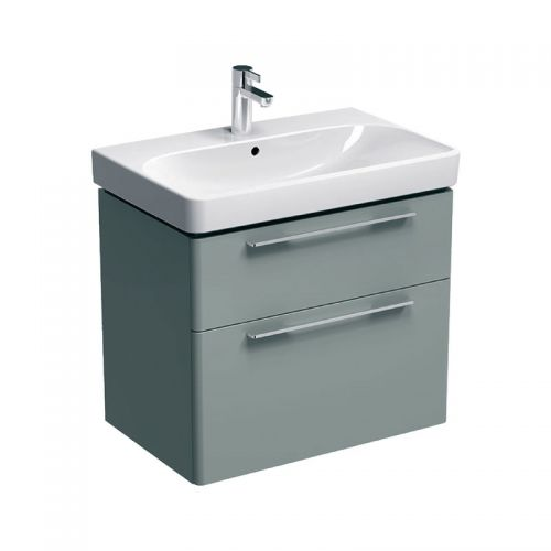 Geberit Smyle Grey 750mm Vanity Unit & 1 Taphole Basin