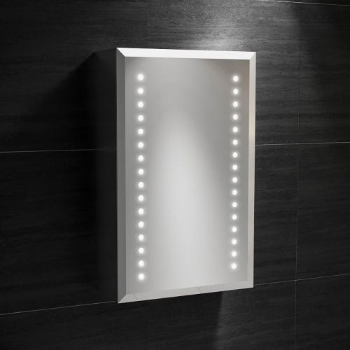 Synergy Aries Aluminium Mirror Cabinet with Shaver Socket 380 x 610 x 130mm