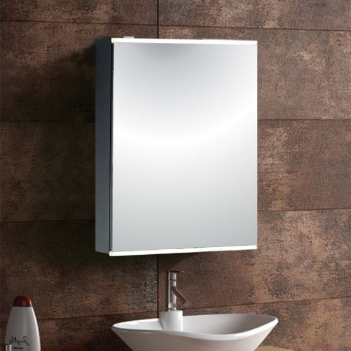 Synergy Taurus Aluminium Mirror Cabinet with Shaver Socket 380 x 610mm