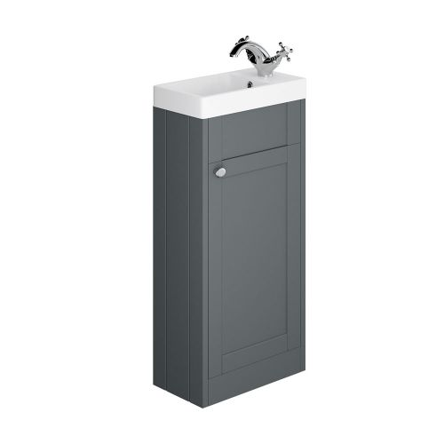 Synergy Henbury Grey 400mm Floor Mounted Vanity Unit with Basin