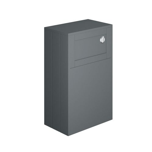 Synergy Henbury Grey 500mm Back To Wall WC Furniture Unit