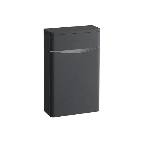 Synergy Kiev Grey Matt 500mm Back to Wall WC Furniture Unit