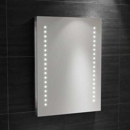Synergy Roma Mirror with IR Switch, Shaver, Demister and LED clock  700 x 500mm