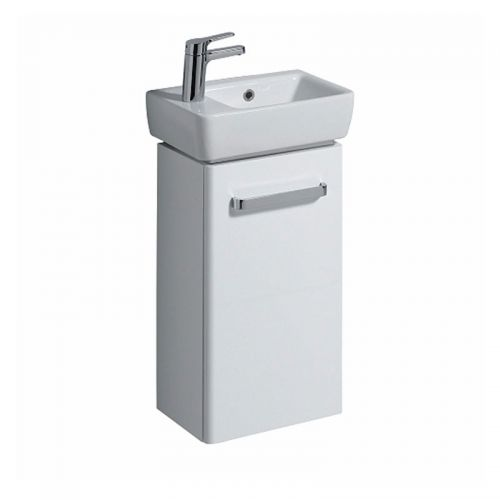 Twyford E200 White Vanity Unit & Handrinse Basin 400x250mm Left Handed