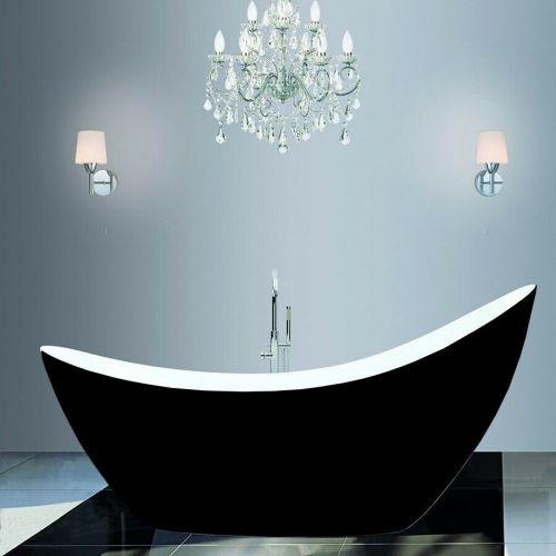Synergy Modern Black Thin Edged Slipper Bath 1750 x 750 x 870mm