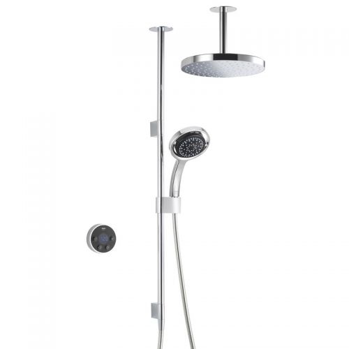 Mira Platinum Dual Ceiling Fed Shower With Wireless Digital Control 1.1796.001 - Pumped For Gravity