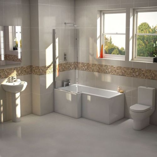 L Shape Shower Bath Suite