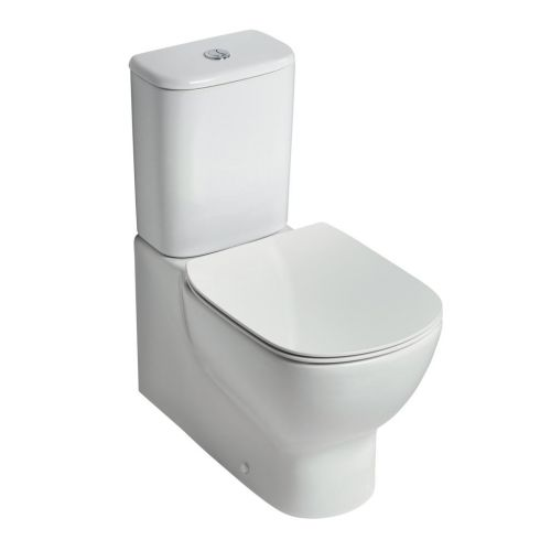 Ideal Standard Tesi Aquablade Close Coupled Fully Back To Wall Toilet WC (Cistern 6/4 Litres)
