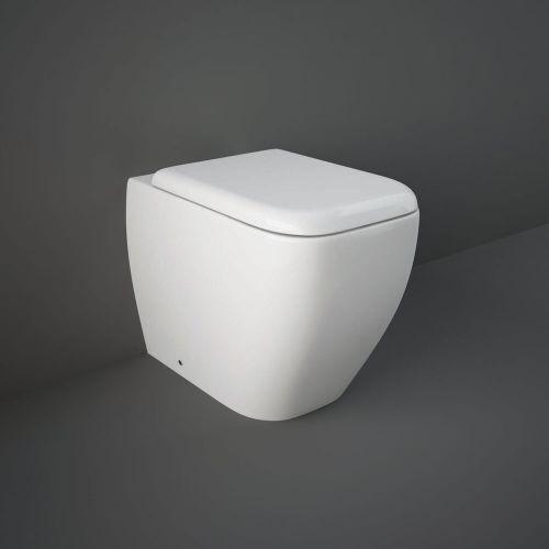 Rak Metropolitan Back To Wall Toilet Pan With Soft Close Seat
