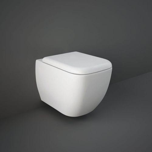 Rak Metropolitan Wall Hung Toilet Pan With Soft Close Seat