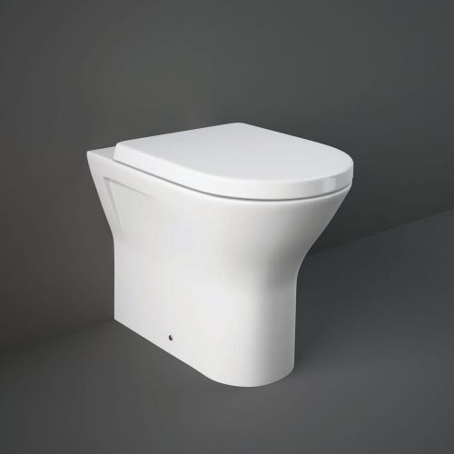 Rak Resort Comfort Height Back To Wall Toilet Pan 42.5cm With Soft Close Seat
