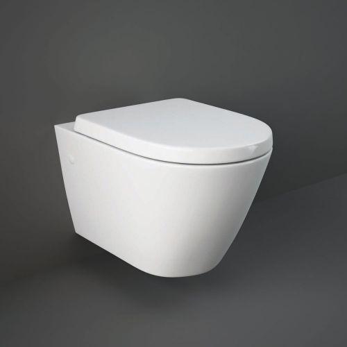 Rak Resort Wall Hung Toilet Pan With Soft Close Seat
