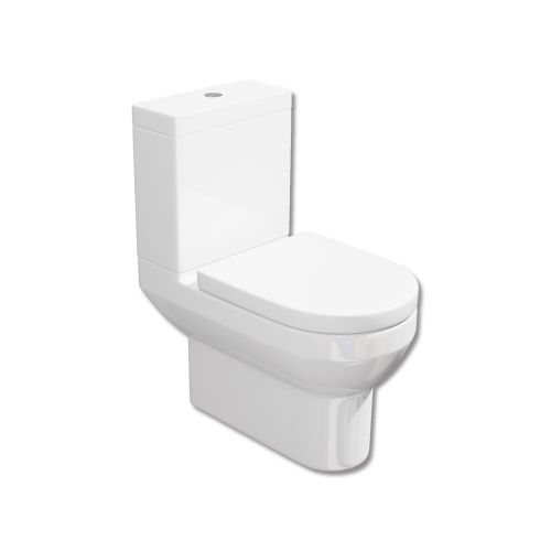 Synergy Alpha Close Coupled WC Toilet With Soft Close Seat